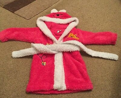 Baby Girls 6-12 Months Winnie The Pooh Dressing Gown