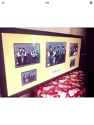 The Beatles at 'The Cavern' Liverpool 1962 framed presentation with Autographs