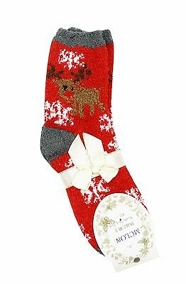 1 Pair Christmas Socks Novelty XMAS Adult Gifts Soft Warm Fluffy Grey Cosy