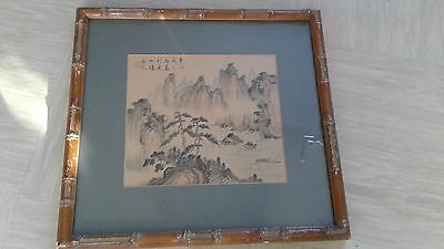 antique painting on silk Chinese