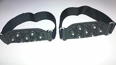 Skiing/Boarding OVER THE SHOE/BOOT SNOW AND ICE GRIPS CLEATS GRIPPERS CRAMPONS