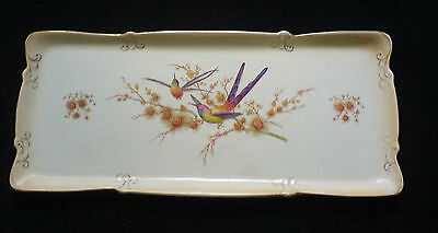 CROWN DUCAL WARE LAWLEYS Bird of Paradise 15 ½ inch Tray