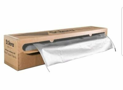 White RV Slide Out Awning Fabric Slideout Topper 50 Feet Universal Cut To Size