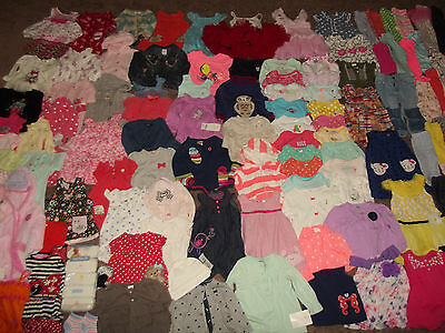 Huge 127pc Clothing Lot Baby Girl's sz 0-6-12 month Carter's Gymboree Gap +