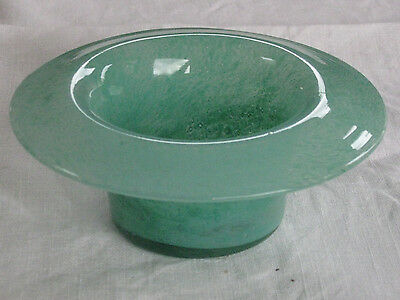 ? Monart aventurine green art glass small posy bowl or dish, 4.75 inches, vgc