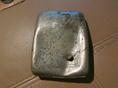 WW1 Silver Cigarette Cae With Bullet It In.  British