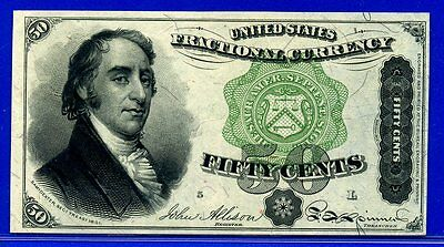 FR1379 Fourth Issue 50 Cent ** About-Uncirculated ** FRACTIONAL**