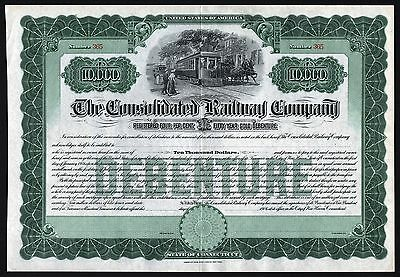 1906 USA (Connecticut): The Consolidated Railway Company, Gold Bond