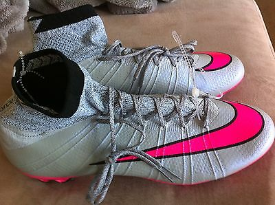 New Nike Mercurial Superfly FG Soccer Cleats Pink Grey 641858 060 Mens 12.5