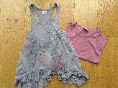 Next Girls Two Piece Vest style Fluted Top - Age 6