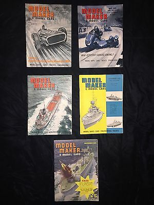Model Maker And Model Cars Magazine x 5 Mags From 1962 Jan/may/July/sept/dec