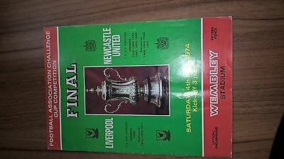 1974 FA Cup Final Liverpool v Newcastle Football Programme