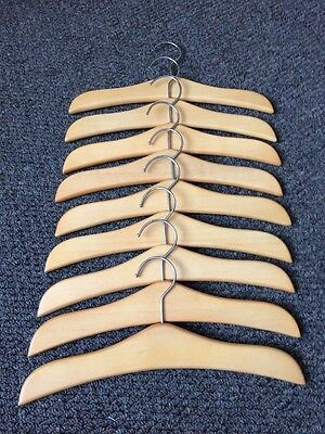 Baby Clothes Outfit Hangers x9 Wooden Designer