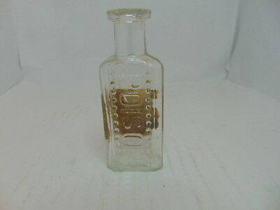 Clear 3 7/16' 13 Bumps on both side Poison Bottle With Label
