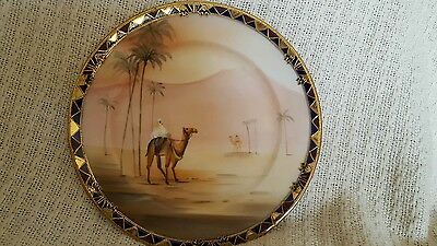 hand painted nippon plate with gilding