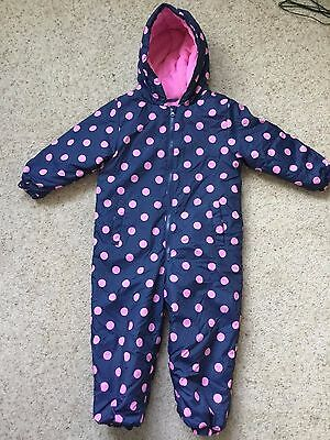 Little Girls Puddle Suit  Snow Suit From Yd  Age 4-5 Years  Hardly Worn