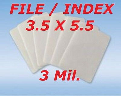 3 Mil. Laminating Laminator Pouches Sheets Index Card 3-1/2 x 5-1/2  50- Pack
