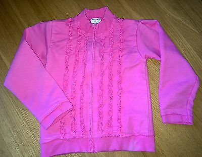 Girls Dark Pink  Zip Up Jacket / Cardigan ... Age 5 - 6 Years - LOOK ��!!