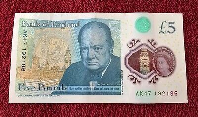 AK47 192196 £5 Five Pound Note Rare And Unique Collectable Bank Of England
