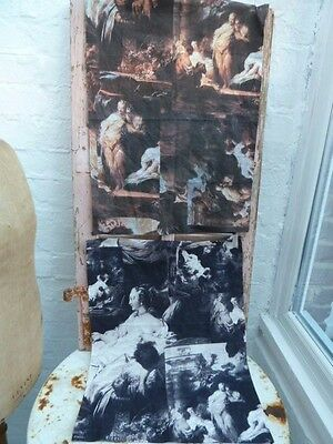 2 Pieces Of Timney Fowler  Textile Art Fabric