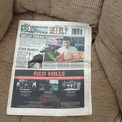 first ever copy of irelands greyhound weekly dated 4th may 2000