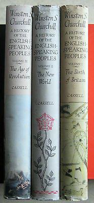 THE HISTORY OF THE ENGLISH SPEAKING PEOPLES by WINSTON CHURCHILL. 3 Vol's,HB+D/W