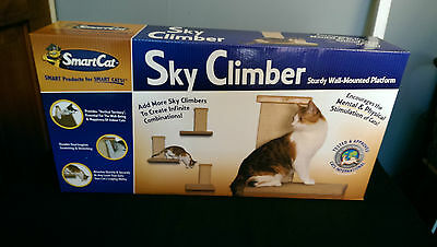 Smart Cat Sky Climber Shelf With Scratching Post Sturdy Wall Mounted Platform