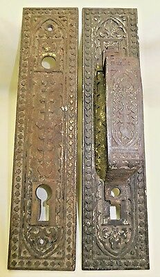 Antique Russell & Erwin Door Pull and Matching Plate
