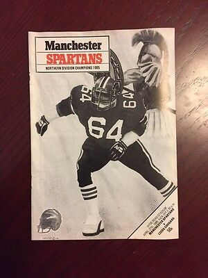 Manchester Spartans v Leeds Cougars 1986 American Football Programmes 16 pages