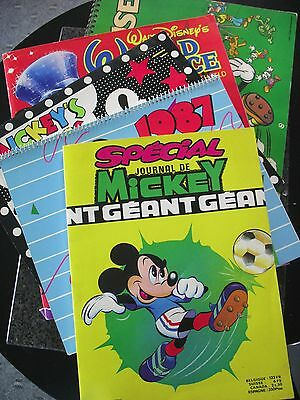 Mickey Mouse Calendars Comic Books Collectibles Lot of 5 French Disney Art 79-88