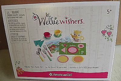 "American Girl ""wellie Wishers""  ""tea For Two Party Playset"". 15 Pc."