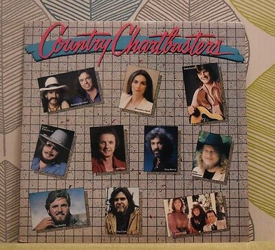 COUNTRY CHARTBUSTERS [Vinyl LP,1985] USA 1P 7681 Emmylou Harris*Guy Clark *EXC