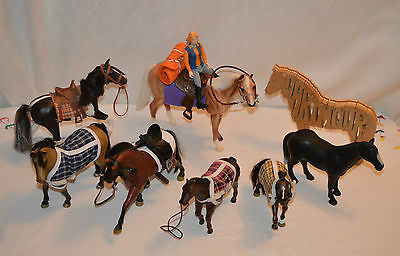 Breyer Horse With  Rider & Other Ponies And Horses