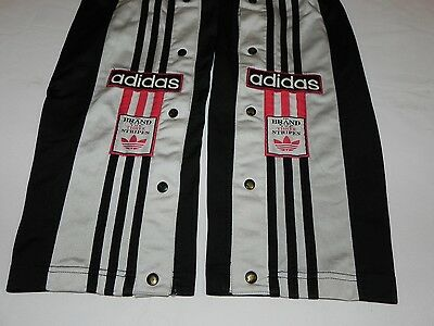 vtg 90s Oldschool ADIDAS POPPERS TRACKSUIT TROUSERS PANTS RARE