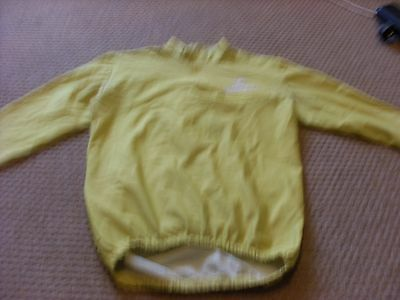 Mens Castelli  yellow Long sleeved cycling shirt  in medium 40 chest