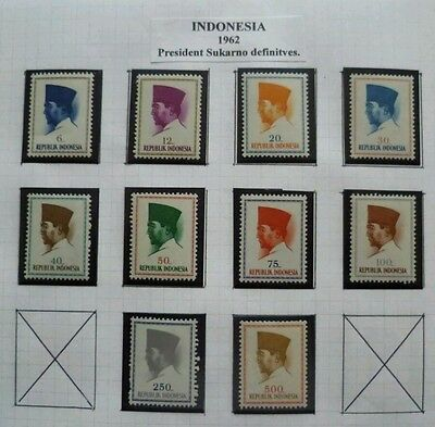 Republic Of Indonesia 1962 President Sukarno Definitives - UMM stamps.
