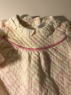 Gymboree Baby Girl Quilted Pink Cream One Piece Outfit 3-6 Months Toile Fall