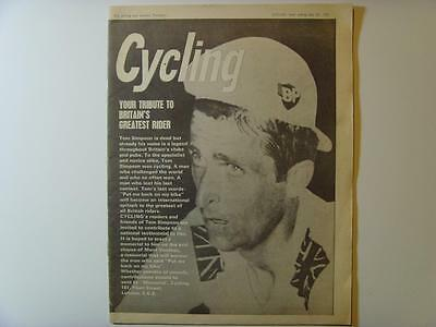RARE 1967 JULY 22 TOM SIMPSON TRIBUTE CYCLING NEWSPAPER MAGAZINE ISSUE No. 3968