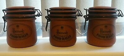 3 Harrods Food Halls Storage Jar/Pot/Kilner Jar Kitchenalia, Vintage, London, UK