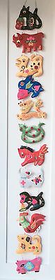 Embroidered Silk Lucky Animals Chinese Zodiac