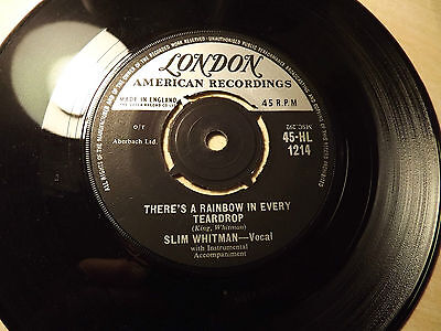 Slim Whitman.....There's A Rainbow In Every Teardrop......45rpm