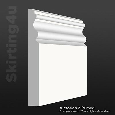 Victorian MDF Skirting Board Primed Fully Finished X 1