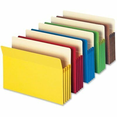 """Smead File Pocket, Straight-Cut Tab, 3-1/2"""" Expansion, Letter Size, Assorted New"""