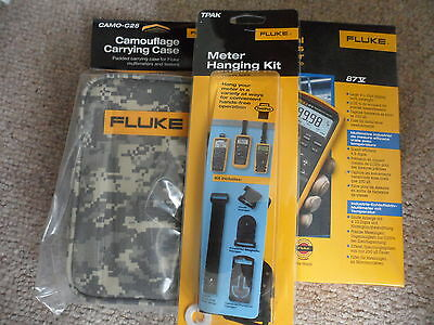 Fluke 87V digital multimeter **BNIB** + FlukeTPAK & C25 Camo Carry Case