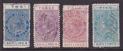 NEW ZEALAND 1882 Queen Victoria fiscal stamps very fine used