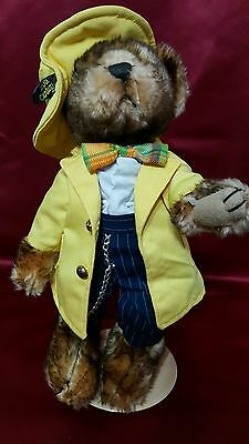 """Brass Button Bears """"Mookie"""" 1930's Zuit Suit 20th Century Collectibles w/ Stand"""
