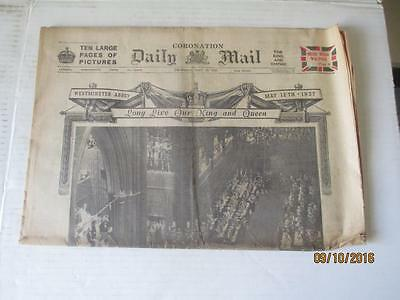Vintage Newspaper. Daily Mail, May 13, 1937, Coronation Issue.