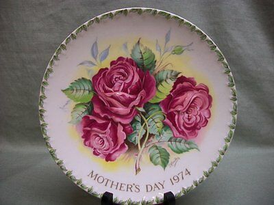 1974 Crown Staffordshire Plaque Mothers Day Plate Ltd Ed.