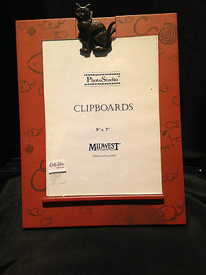 """Midwest clipboard """"Cat"""" themed 5"""" x 7"""" picture frame"""