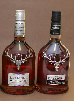 Whisky The Dalmore, vintage limited edition, 2001, 2003, 70cl, 2 Flaschen!!!